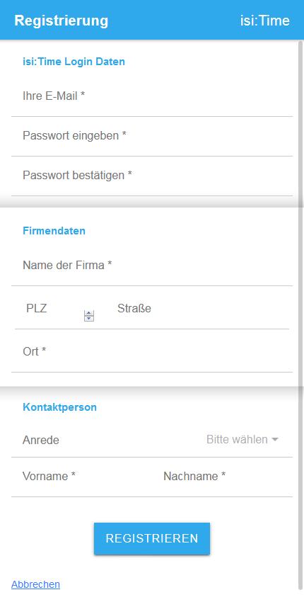 App Registrierung